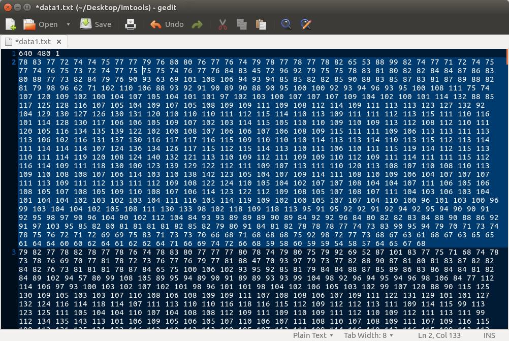 RAW data txt file